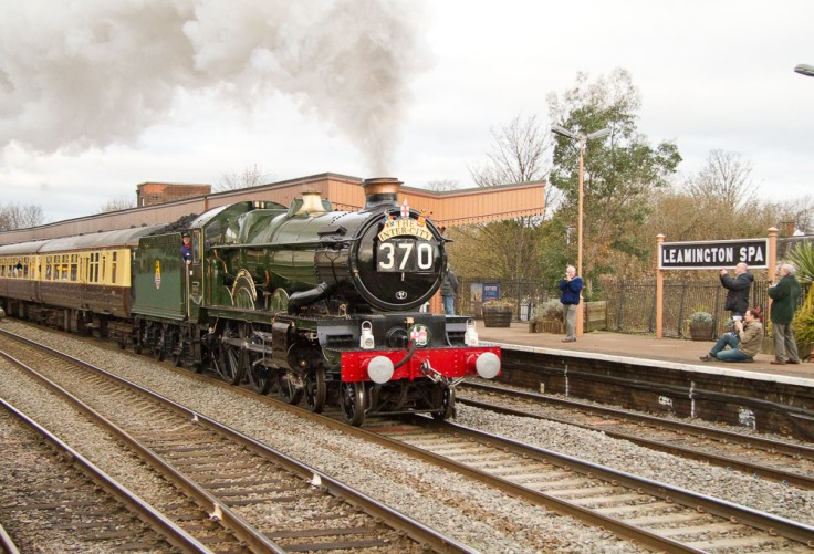 Trains as well as people can be notable: here's a GWR Castle passing through in 2010